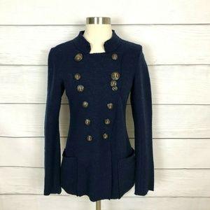 Anthropologie Gro Abrahamsson Jacket Navy Blue S